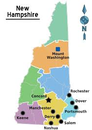 New Hampshire State Map by New Hampshire Yard Sign Regulations Campaign Trail Yard Signs