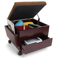 storage ottoman on wheels rolling ottoman with storage the rolling storage ottoman hammacher