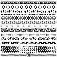 aztec ribbon aztec borders tribal borders clipart aztec