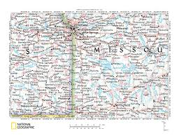 Kansas Map Osage River Drainage Basin Landform Origins Kansas And Missouri