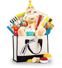 Food Gifts By Mail Birthday Bear And Embroidered Party Hat Gift Set