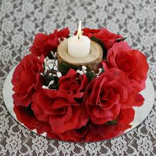 red rose rings images 8 pack of artificial red rose candle rings wedding centerpiece jpg