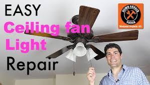 ceiling fan light wont turn on but fan does ceiling fan light repair home repair tutor