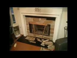 Fireplace Surrounds Lowes by Diy Airstone Fireplace Purchased From Lowes Youtube