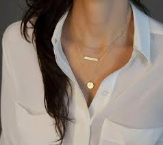 nameplate necklace plated 2014 new gold plated multilayer sequins chain personalized statement