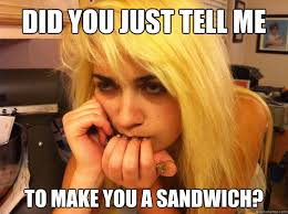Make Me A Sammich Meme - woman make me a sandwich best sandwich 2017