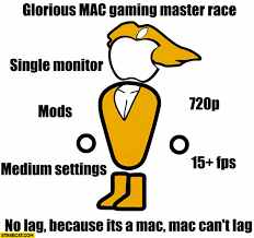 Meme Monitor - glorious mac gaming master race single monitor mods medium