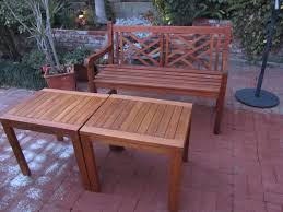 Used Outdoor Furniture Clearance by Outdoor U0026 Garden Chain Hanging Teak Patio Furniture Bench For