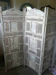 furniture charming moroccan room divider screen distressed white