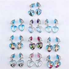 kids clip on earrings 2017 hot frozen elsa princess girl earrings earring ear clip