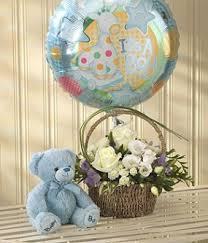 teddy in a balloon gift new baby flowers new baby flower delivery baby flowers dubai