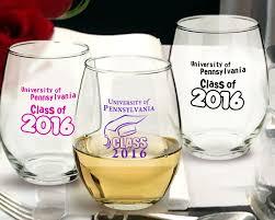 graduation wine glasses graduation personalized stemless wine glasses 15 oz arc