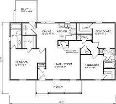 3 bedroom ranch floor plans house plan 45272 at familyhomeplans com