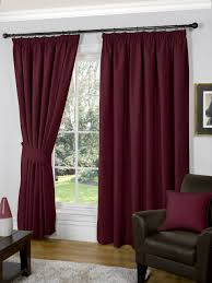 Burgundy Living Room Curtains Burgundy Colour Plain Stylish Designer Heavy Chenille Curtains