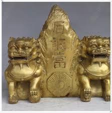 fu dogs online shop brass fu dogs seated beside shigandang mountain feng