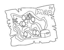coloring page treasure map color online coloringcrew 762489