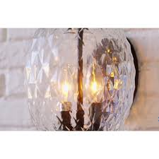 Pineapple Light Fixtures Lanai Black Coral Two Light 18 Inch Outdoor Wall Mount Acclaim