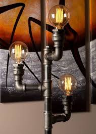 Steunk Light Fixtures Steunk Pipe Floor L Industrial Style Modern Handmade In Uk