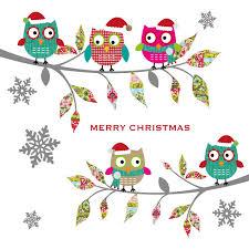 christmas owls christmas card charity cards