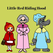 story book characters red riding hood goldilocks