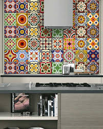 Tile Stickers For Kitchen Set Of 24 Tile Stickers Back Splash Talavera Style Stickers Mixed