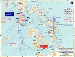 Philippine Map Map Of Wwii The Philippines 1945