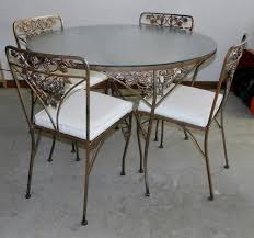 Rod Iron Patio Table And Chairs Woodard Grape Vine Pattern Offered On Ebay For 499 99 Vintage