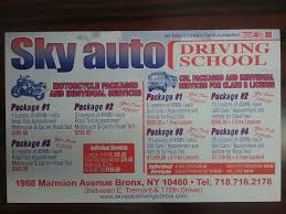 5 hr class bronx ny sky auto driving school traffic school bronx new york 23