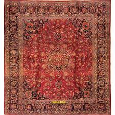 tappeti antichi caucasici tappeto mashad d epoca quadrato grande 323x300
