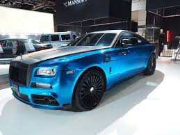 rolls royce wraith blue mansory brings a custom painted rolls royce and a carbon fiber