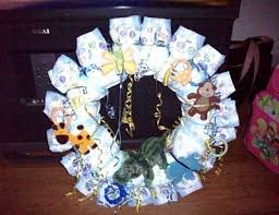 baby shower wreath a wreath thriftyfun