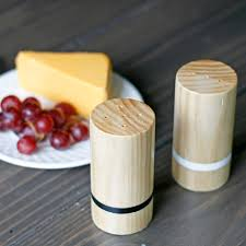 pneumatic addict wood salt and pepper shakers