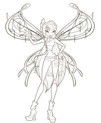 film winx drawing winx coloring pages online winx club bloom