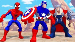 the avengers spiderman iron man u0026 captain america funny race