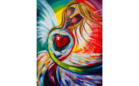easy beginners acrylic painting abstract angel the art sherpa