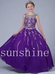 wholesale little flower dress purple pageant cheap floor