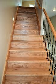 oak staircase ak britton construction llc