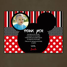 mickey mouse thank you cards mickey mouse 1st birthday thank you cards alanarasbach