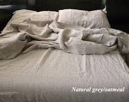 Grey Linen Bedding Linen Bedding Etsy