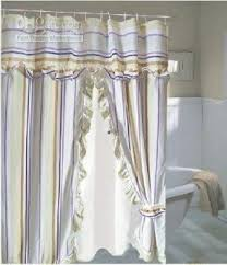 Double Shower Curtains With Valance Swag Shower Curtain Foter