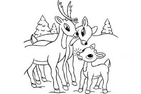 rudolph red nosed reindeer coloring picture gallery