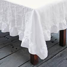 table cloth linen ruffle tablecloth shabby chic table linens for all occasions