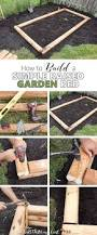 how to build a simple raised garden bed also known as a garden