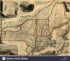 Maps Of New England by Railroad Steam Boat U0026 Stage Route Map Of New England New York