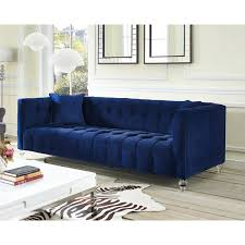 Overstock Sofa Bed Stylish Velvet Sofa Bed Bea Navy Velvet Sofa Free Shipping Today