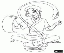 avatar airbender coloring pages printable games