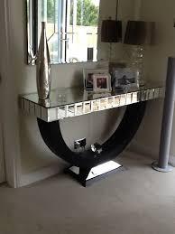 Quartz Console Table Quartz Black Mirrored Console Table Console Table Styling