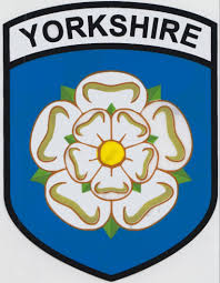 County Flags Yorkshire Rose County Flag Car Sticker Shield Self Cling