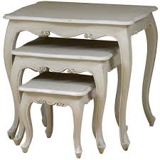 french style side table lyon french nest of three tables french carved nest of tables