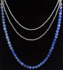 necklace with blue stone images Enchanting pearls crystal and blue stone necklace jpg
